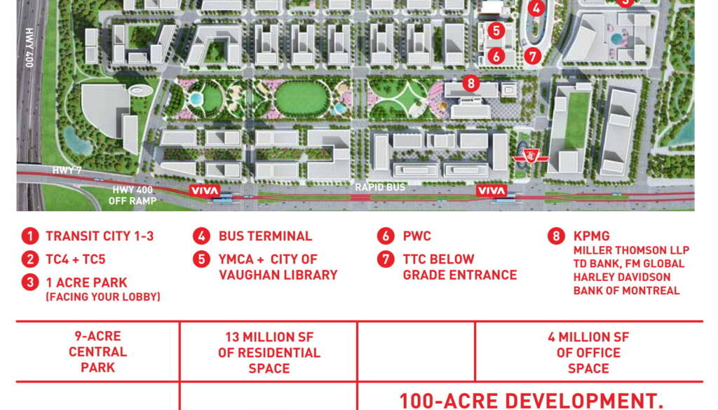 SmartCentres Place - Master Plan Map-1